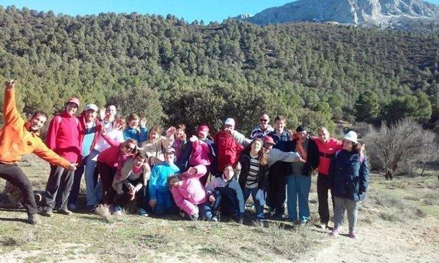 Los participantes en el Paida han realizado senderismo en Cabo de Gata-Níjar.
