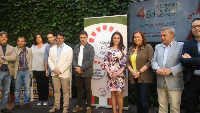 Autoridades durante la presentación de Córdoba Califato Gourmet