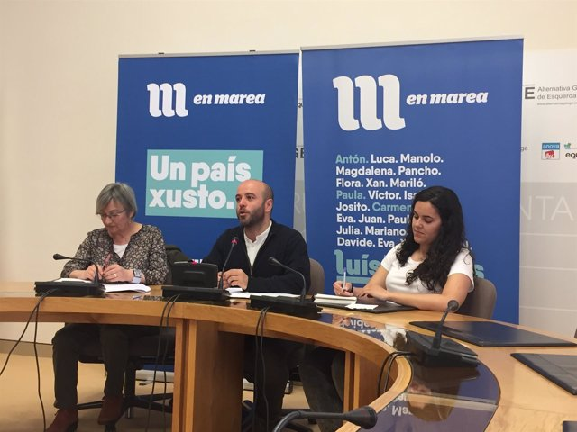 Rueda de prensa de En Marea sobre el gallego
