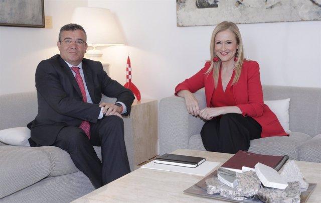 Cifuentes Se Reúne Con Guillermo Hita,  Alcalde De Arganda Y Presidente De La Fm