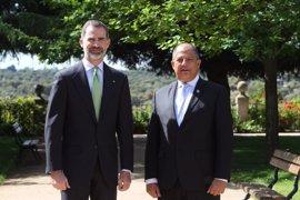 El Rey Felipe destaca el compromiso de Costa Rica en la lucha contra el cambio climático