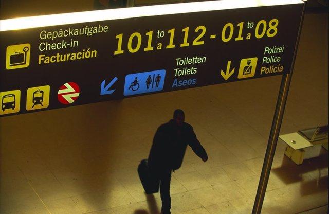 Aeropuerto de Málaga Costa del Sol, interior pasajero