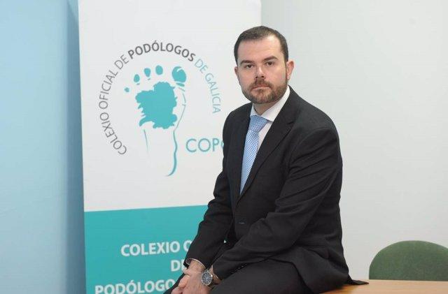 Borja Pérez, presidente del Colexio de Podólogos de Galicia.
