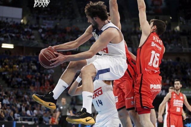 LLull en el Real Madrid -Valencia Basket