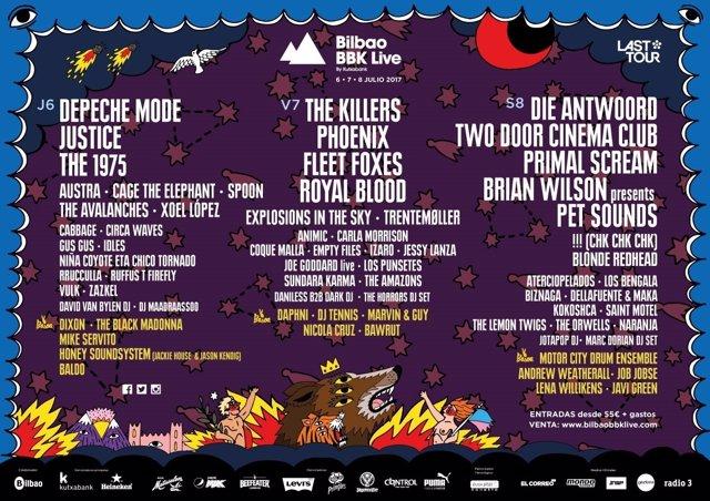 Cartel completo de Bilbao BBK Live