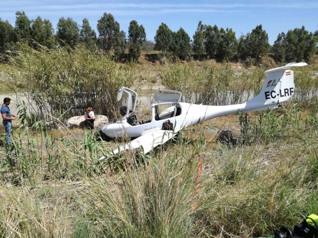 Avioneta accidentada en Vélez Málaga