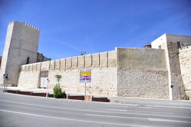 Tramo rehabilitado de la muralla de Teruel