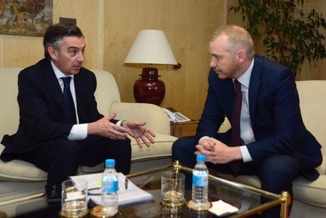 Beamonte y Navia se han reunido este lunes en Madrid