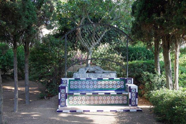 Detalle de los Jardines de Marivent en Palma