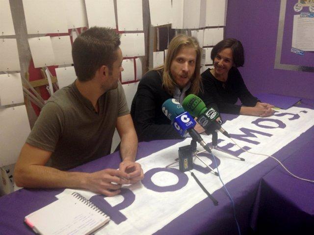 Daniel López Vela, Pablo Fernández y Amada Peñalosa.