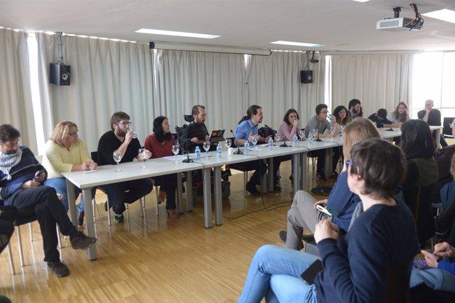 Pablo Iglesias preside una reunión del Consejo Ciudadano Estatal de Podemos