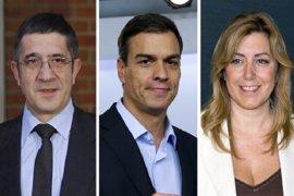 Susana Díaz abrirá y Pedro Sánchez cerrará el debate de primarias en el PSOE, que tendrá tres bloques y durará dos horas