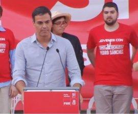 """Pedro Sánchez pide que las primarias """"no sirvan ni para enfrentar a territorios"""" ni para """"privatizar"""" el feminismo"""