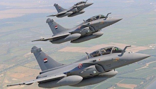 Tres cazas Rafale entregados a Egipto