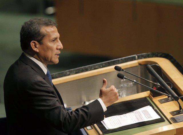 Ollanta Humala habla en la ONU