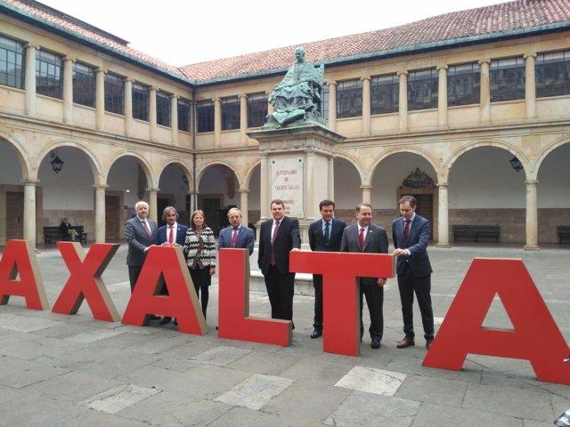 Acto de Axalta en la Universidad de Oviedo.