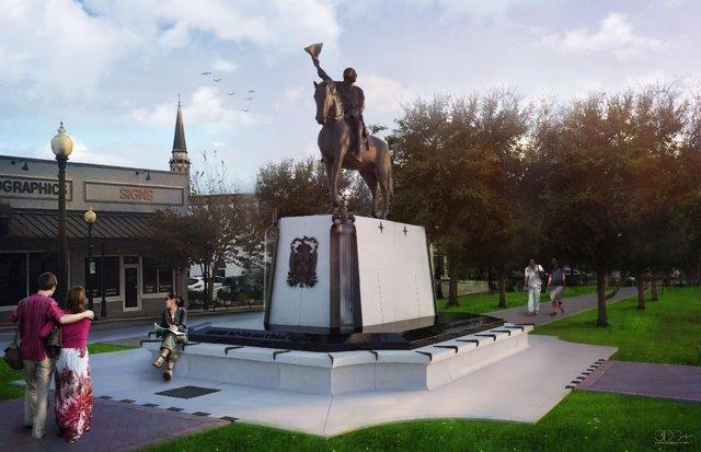 Monumento bernardo de gálvez pensacola Florida homenaje recreación independencia