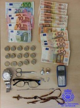 Dinero y efectos intervenidos