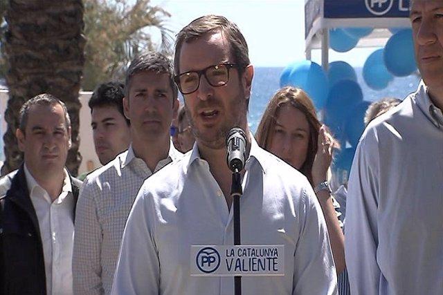 Maroto (PP) dice que el independentismo engaña a los catalanes