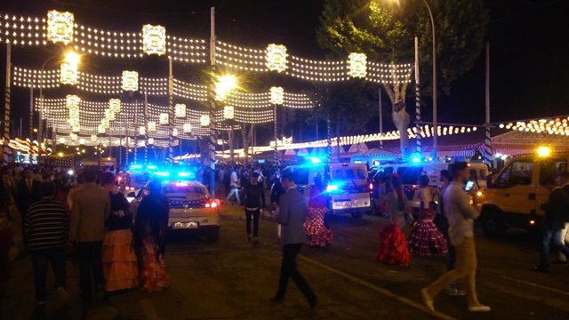 Intervención policial en la Feria.