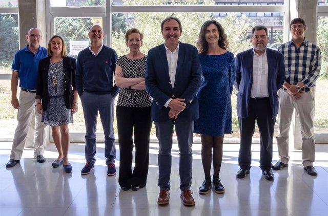 El equipo de la candidatura de Rafel Crespí, candidato a rector de la UIB