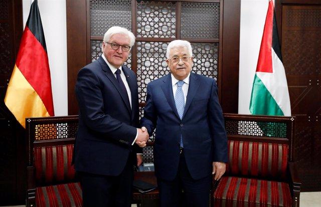 Frank-Walter Steinmeier y Mahmud Abbas