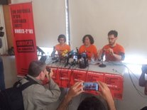 Roda de premsa a Barcelona del primer sindicat d'inquilins