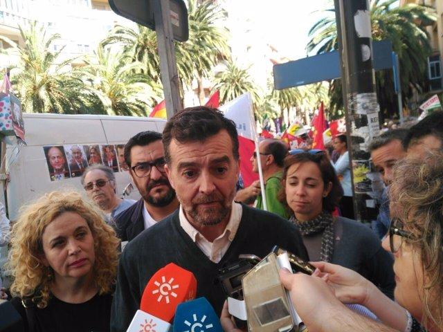 Maíllo iu málaga andalucía manifestación primero de mayo día trabajadores