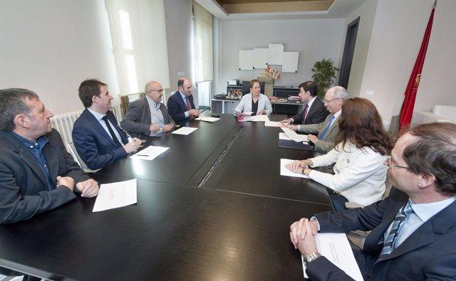Barkos Y Ayerdi Con La Junta De ANEL.