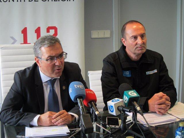 El director xeral de Emerxencias, Luís Menor, a la izquierda