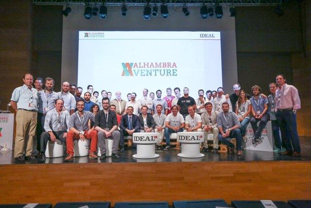 Emprendedores que participarán en la IV Edición de Alhambra Venture.