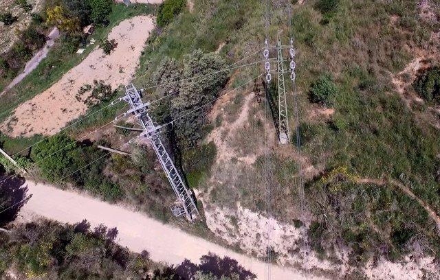 Línea eléctrica de Endesa en Collserola