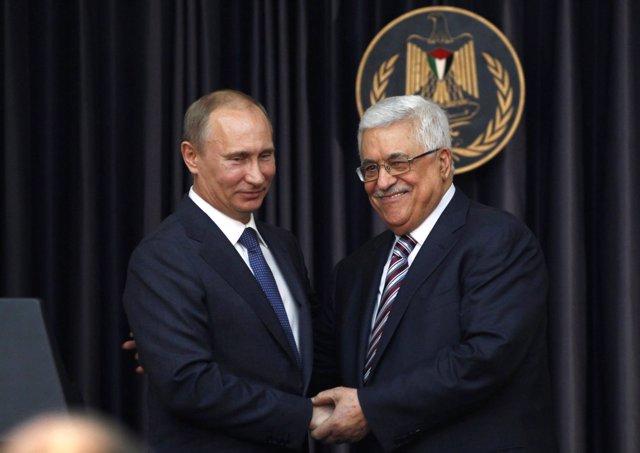 Mahmud Abbas Y Vladimir Putin
