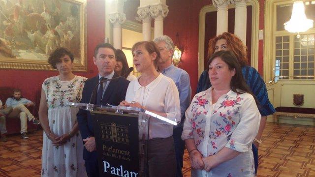 Diputados del intergrupo 'Pau i solidaritat' por el pueblo saharaui