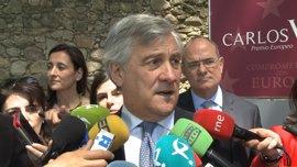 """Tajani considera el Brexit un """"problema"""" y aboga por """"defender los intereses"""" de los europeos que viven en Reino Unido"""