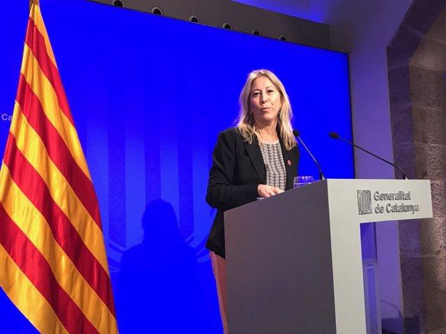 Neus Munté, consellera y portavoz de la Generalitat