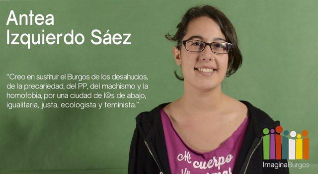 La nueva concejal de Imagina Burgos, Antea Izquierdo