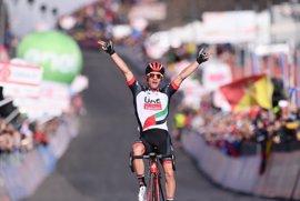 Polanc gana en el Etna y Jungels se viste la 'maglia rosa'