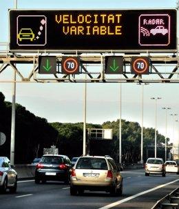 Sistema de velocidad variable en Barcelona