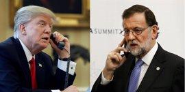 """Rajoy desvela que Trump le ha invitado a la Casa Blanca y fijarán una fecha """"en el futuro"""""""