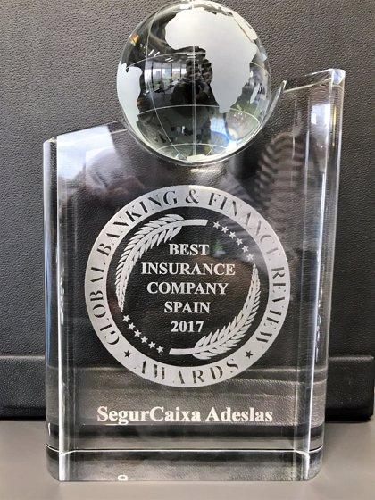 SegurCaixa Adeslas, reconocida como Mejor Compañía Aseguradora en España 2017