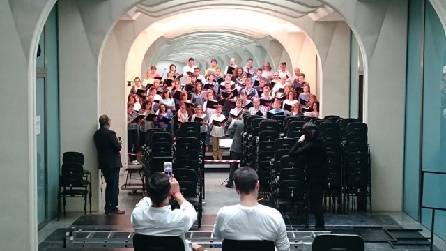 Ensayos del concierto 'Missa Papæ Marcelli' en Les Arts