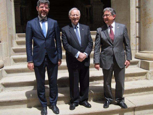 Alberto Nadal, Miquel Valls y Enric Millo