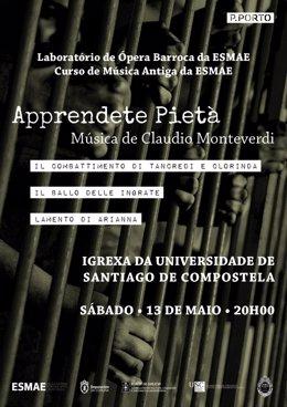 Amigos da Ópera organizan un concierto de recuerdo a Monteverdi