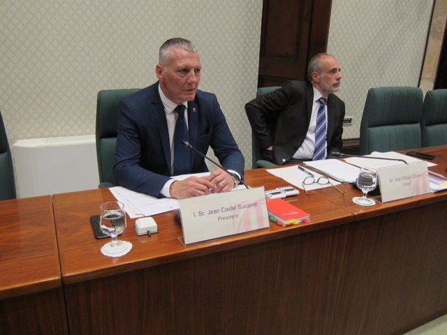 El presidente de la comisión del caso Vidal J.Castel y el letrado J.Ridao