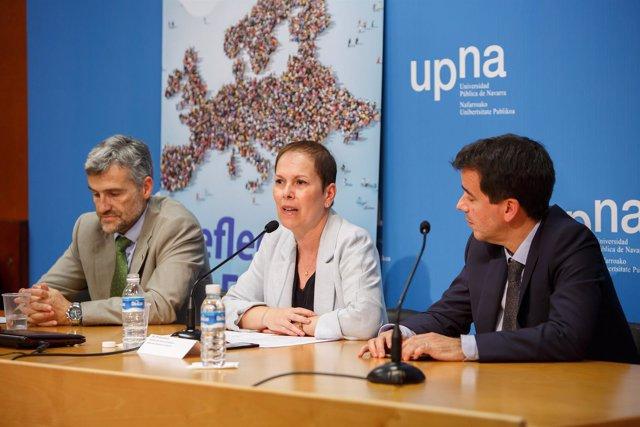 Barkos en la celebración del Día de Europa en la UPNA