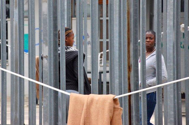 Centro de detención de inmigrantes en Roma
