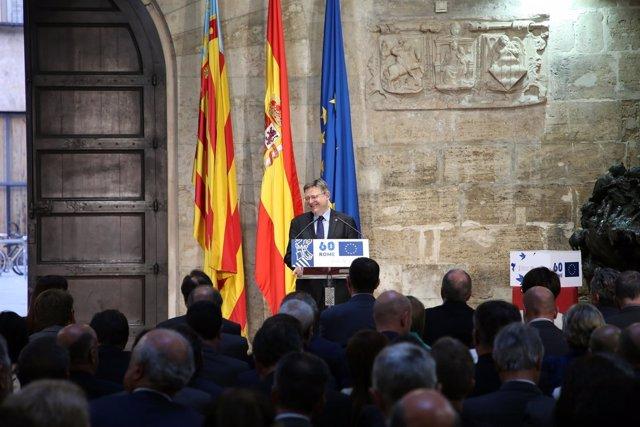 Puig interviene en el acto de conmemoración del Día de Europa