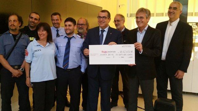 Los Bombers recaudan 62.602 euros para investigación neonatal