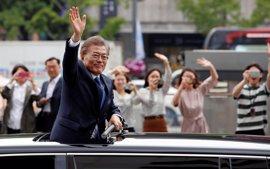 Moon Jae In asume el cargo de presidente de Corea del Sur